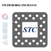 STC15F2K40S2-25I-PLCC32封装图片
