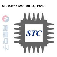 STC15W4K32S4-30I-LQFP64L封装图片