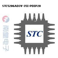 STC5206AD3V-35I-PDIP20封装图片