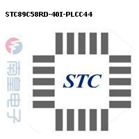 STC89C58RD-40I-PLCC44封装图片